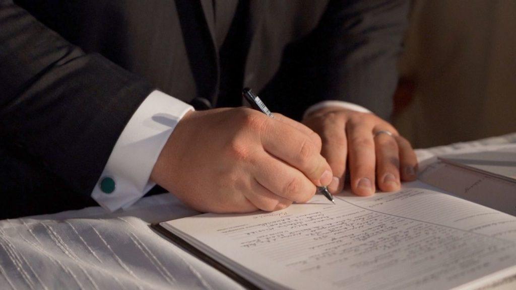 Signature, engagement, marie, mariage