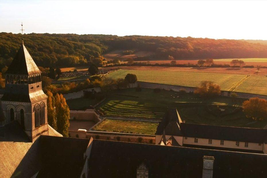 Abbaye de Fontevraud par drone