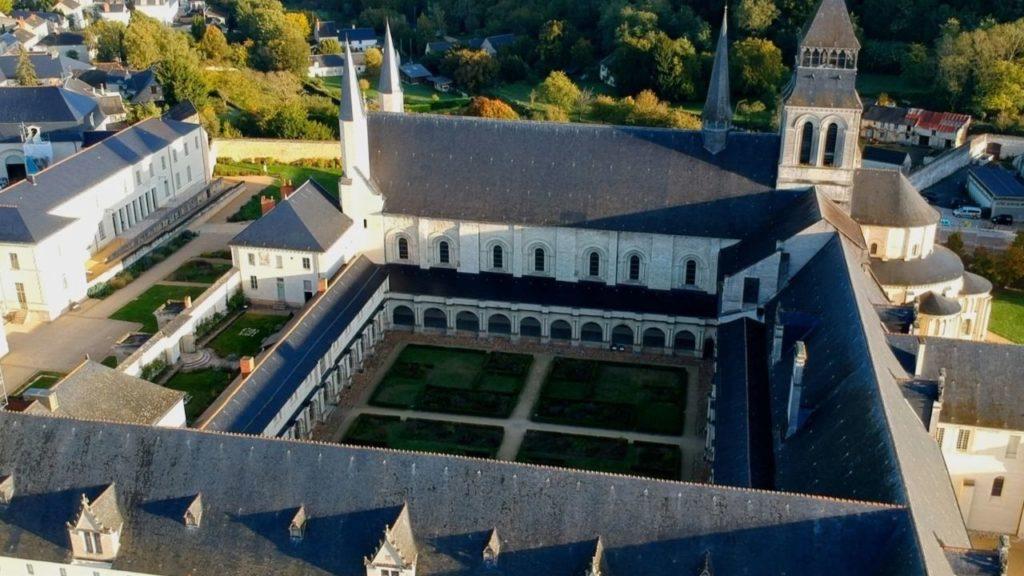 Abbaye de Fontevraud, drone